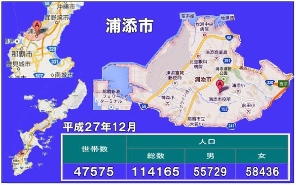 浦添市人口統計