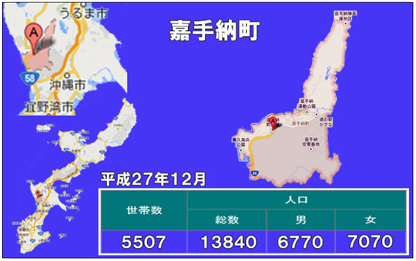 嘉手納町人口統計