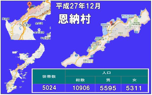 恩納村人口統計