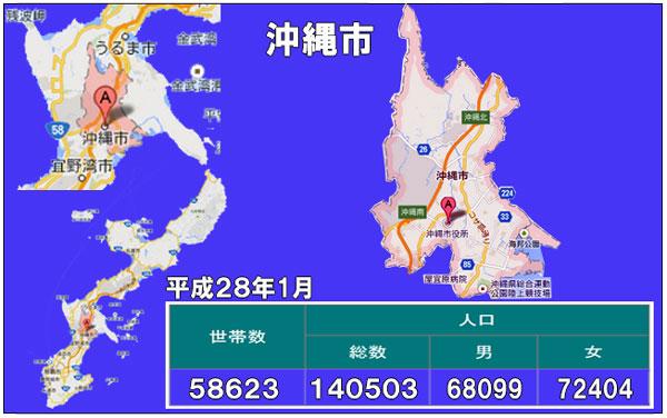 沖縄市人口統計