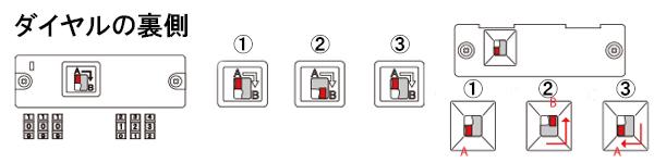 レバー直角スライド型スーツケースのダイヤの変更の仕方