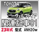 トヨタヴェルファイア23年式型式ANH20w関連記事01