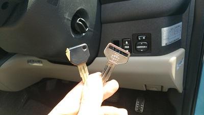 2種類の鍵イモビ鍵と通常のカギ