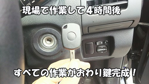 トヨタハリアー鍵の制作