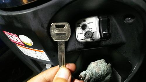 ホンダのバイクの鍵