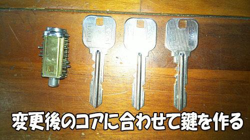 配列変えた248コアを元に鍵を作る